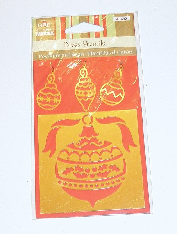 Brass Paper Template Embossing Stencil CHRISTMAS ORNAMENT