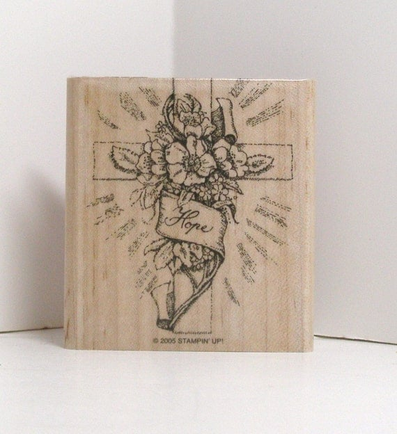 CROSS of HOPE Rubber Stamp Stampin Up