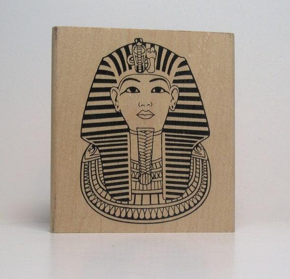 Egyptian Pharaoh Rubber Stamp