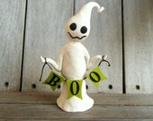7 Inch Halloween Ghost with Boo Banner