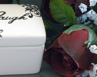 Ceramic Laugh Keepsake Box Laugh