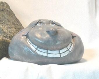 Ceramic Larry Rockhead Garden Decor