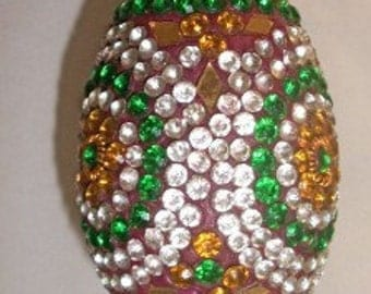 Egg with Rhinestones Ornament