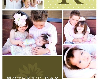 Mothers Day / Fathers Day / Grandma / Grandpa (you print) photo card - 4x6 or 5x7