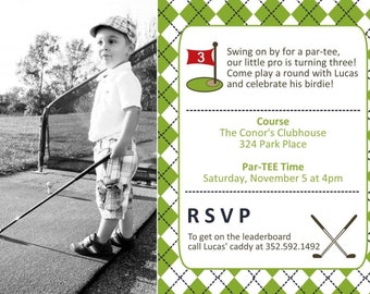 Golf Birthday Invitation - YOU PRINT - 4x6 or 5x7