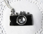 Tiny Camera Necklace with silver Chain