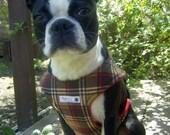 Comfort Soft  Dog Walking Harness- Plaidberry Brown