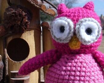 Whooo Owl in Pink
