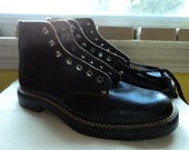 """Vintage NOS 1950s leather """" Extra Wear"""" womans childrens extra small workboot combat boot riding boot reinforced toe"""