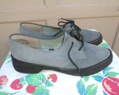 "Vintage 1940-50s suede ""Revelations"" brand oxford swing creeper shoes rockabilly ladies size 5.5 VLV pinup bombshell"