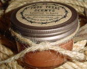 Leather &  Lace (Leather and Vanilla) 4 oz Mason Jar Western Cowboy Candle