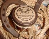 Throughbred (Ralph Lauren scent) - 4 oz Mason Jar Western Cowboy Candle