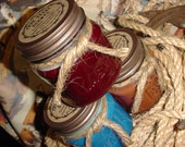 3 - 8 oz Texas style Square Mason Jar Western Texas Cowboy Candles (you choose the scents)