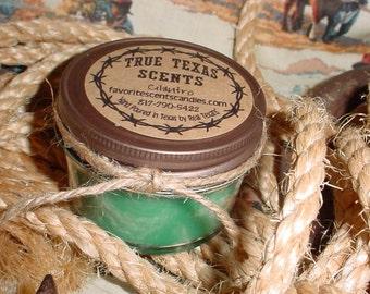 Big Hair - 4 oz Mason Jar Western Texas Syle Cowboy Candle