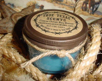 Corpus Christi Bay Breeze -  4 oz Texas style Western Cowboy Candle