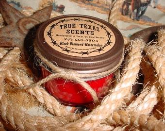 Santa Baby - 4 oz western Texas cowboy mason jar candle