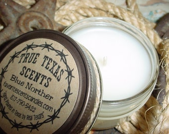 WEATHERED CROW - 4 oz mason western TEXAS cowboy jar candle