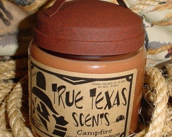 Western Pleasures (leather and cinnamon) - 16 oz Texas style Western Cowboy Candle