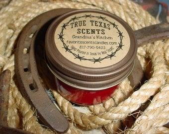 Grandma's Kitchen - (Apple Pie) 4 oz western mason jar candles
