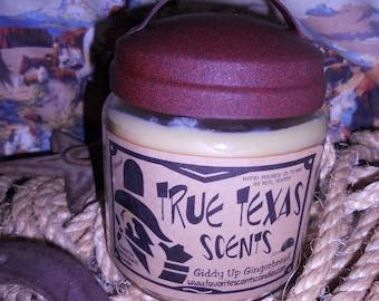 Giddy Up Gingerbread - 16 oz Western Cowboy Candle