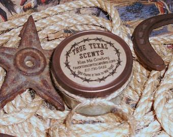 Kiss Me Cowboy (Sex on the Beach) 4 oz western Texas Cowboy Candle