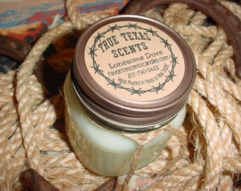 Lonesome Dove (Amber Vanilla)  8 oz Western Cowboy Candle