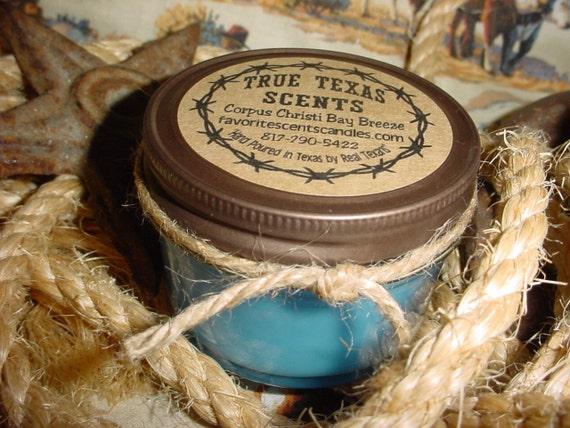 Corpus Christi Bay Breeze -  4 oz Texas style Western Cowboy Candle
