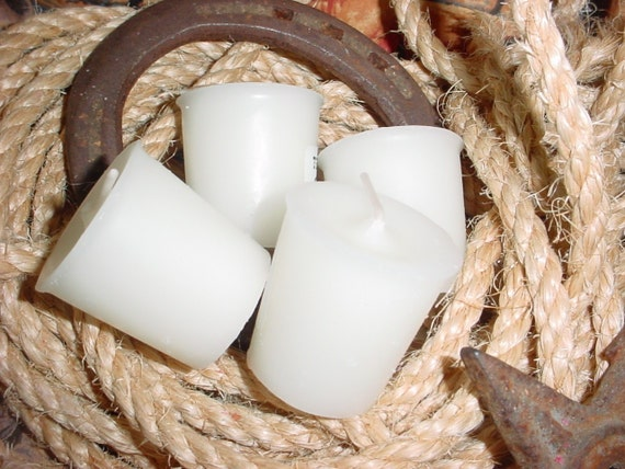Pistols & Pearls (Moonlight Path BBW type) -  (8) 15 hour Western Cowboy Votives