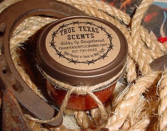 Giddy Up Gingerbread - 4 oz Western Cowboy Candle