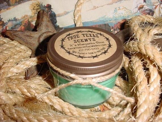 Tumbleweed (Sage & Citrus BBW type) - 4 oz mason jar cowboy candle