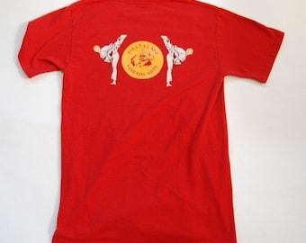 Vintage Tshirt Adult Small Mens Karate Tee Red