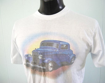 Classic Cars Vintage TShirt 80s Airbrush Tee MEDIUM LARGE