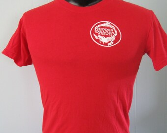 Hidden Dragon Karate Tshirt Womens Mens Classic Simple Tee Red SMALL