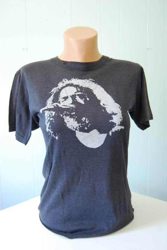 Authentic Vintage Jerry Garcia Band TShirt Grateful Dead Amazing History SMALL
