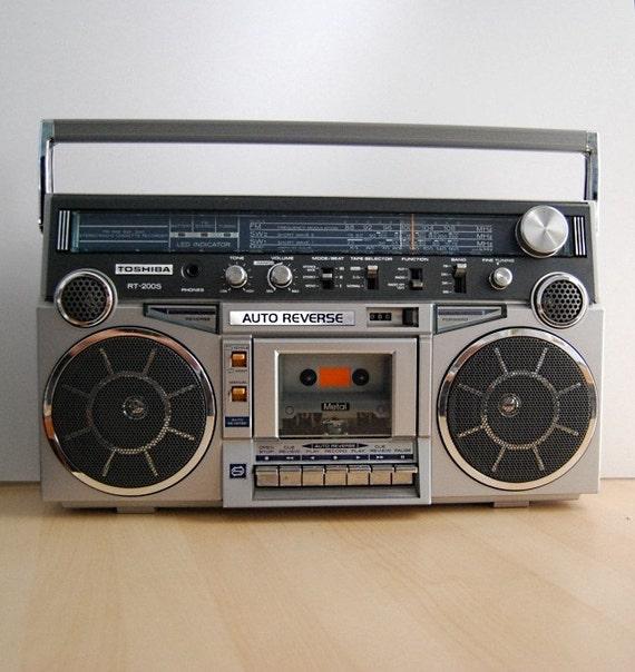 Vtg 80s RCA RP-7879A BOOMBOX Ghetto-Blaster Dual Cassette ...  |80s Boombox