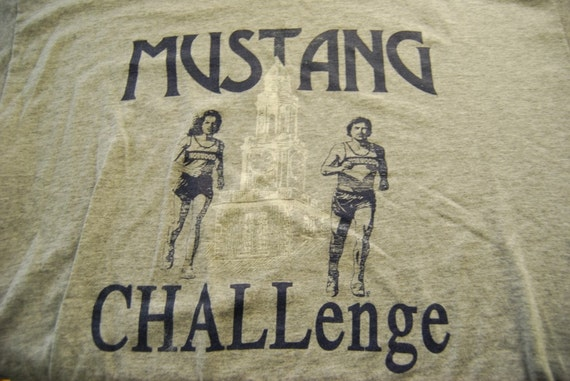 Mustang Challenge Gray Grey Soft Thin TShirt XL LARGE