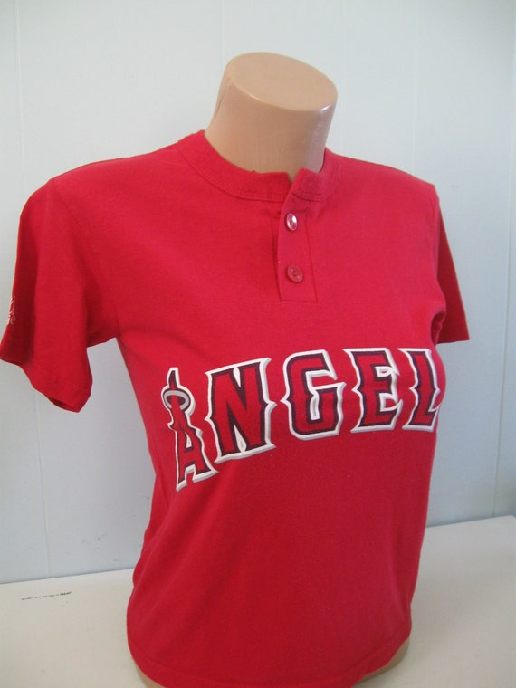 Angels TShirt RED Baseball California Jersey Tee Numbers 5 XS