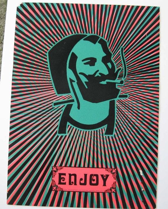 Vintage 1970s Blacklight poster by gildedfarmer on Etsy