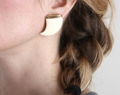 vintage 80s Faux Shark-Tooth Earrings