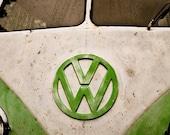 Vintage Volkswagen Bus 5x7 Metallic Print