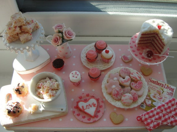 Miniature be my valentine baking table SALE
