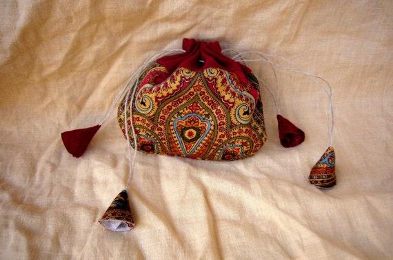 Purse Little magic Tibetan bag drawstrings