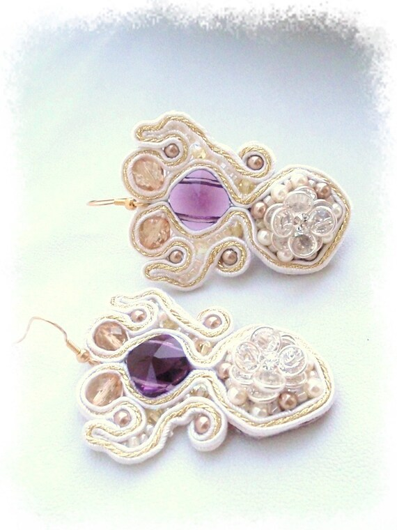 Bridal chandelier Earrings , OOAK , Swarovski Crystal earrings