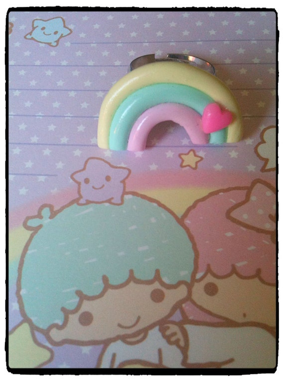 Cute ring rainbow kawaii fairy kei