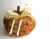 Large Autumn Corduroy Decorative Pumpkin