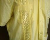 Sunshine Yellow Guayabera by Haband