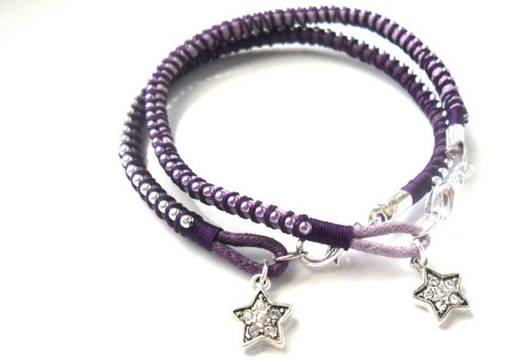 Friendship Bracelets with Charm /  Colorful Hand Woven Bracelet /  Teen Gift /  Trendy Bracelet / Stuffing stock / handmade accessories