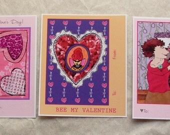 Mini Illustrated Valentine Set of 12