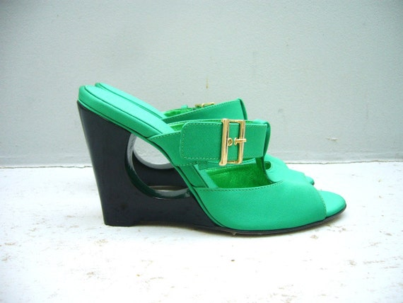 Green shoe sandals 8.5 vintage new dead stock