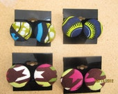 Pick One (1) Multicolor African Wax Print Post Earrings
